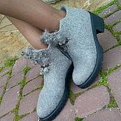 Обувь ручной работы. Ярмарка Мастеров - ручная работа Эко ботиночки из шерсти Утонченность. Handmade.