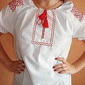 Русский стиль handmade. Livemaster - original item Chemise-embroidery