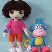 Куклы и игрушки ручной работы. Ярмарка Мастеров - ручная работа Кукла Даша путешественница и обезьянка Башмачек. Handmade.