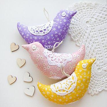 Куклы и игрушки ручной работы. Ярмарка Мастеров - ручная работа Текстильные птички (сет из 3 штук). Handmade.
