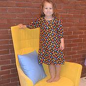 """Работы для детей, ручной работы. Ярмарка Мастеров - ручная работа хлопковое платье """"Лисята"""". Handmade."""