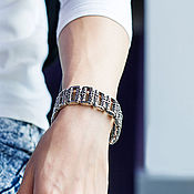Украшения handmade. Livemaster - original item Steel bracelet with a royal lilies unisex. Handmade.