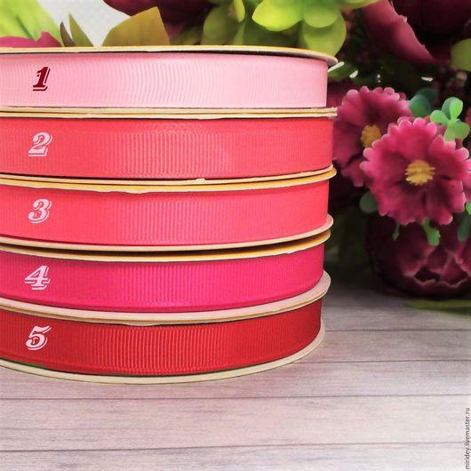 Аппликации, вставки, отделка ручной работы. Ярмарка Мастеров - ручная работа. Купить Лента репсовая 12мм розовые тона. Handmade.