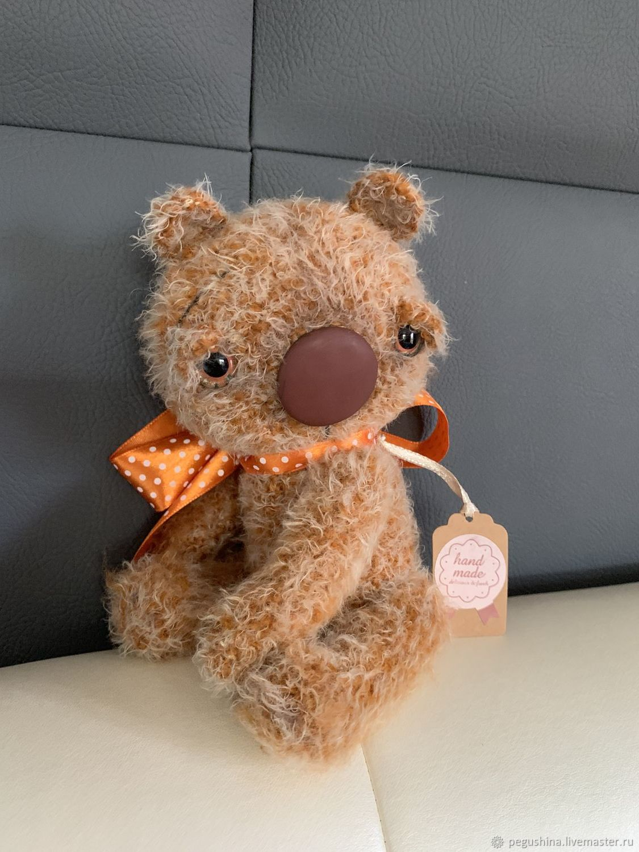 Вязаный медвежонок «Поль», Мягкие игрушки, Москва,  Фото №1