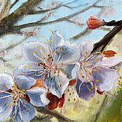 Картины и панно ручной работы. Ярмарка Мастеров - ручная работа Этюд маслом «Цветут сады». Handmade.