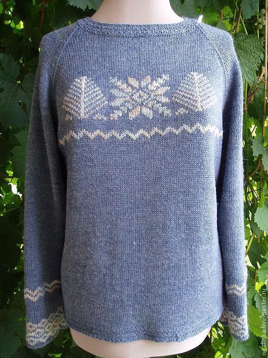 Кофты и свитера ручной работы. Ярмарка Мастеров - ручная работа. Купить джемпер из шерсти Зима.... Handmade. Сиреневый, вязание для женщин