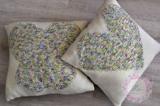 Текстиль, ковры ручной работы. Ярмарка Мастеров - ручная работа. Купить Подушки вязаные. Handmade. Подушка интерьерная, на дачу, бабочка