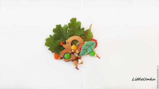"""Развивающие игрушки ручной работы. Ярмарка Мастеров - ручная работа. Купить """"Ежик""""  - грызунок, развивающая игрушка. Два в одном.. Handmade."""