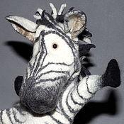 Куклы и игрушки ручной работы. Ярмарка Мастеров - ручная работа Зебра. Перчаточная кукла. Би-Ба-Бо.. Handmade.