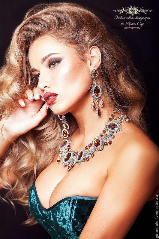 """Колье, бусы ручной работы. Ярмарка Мастеров - ручная работа. Купить Ожерелье """"Сон Семирамиды""""  коричневый-золотой барокко. Handmade."""