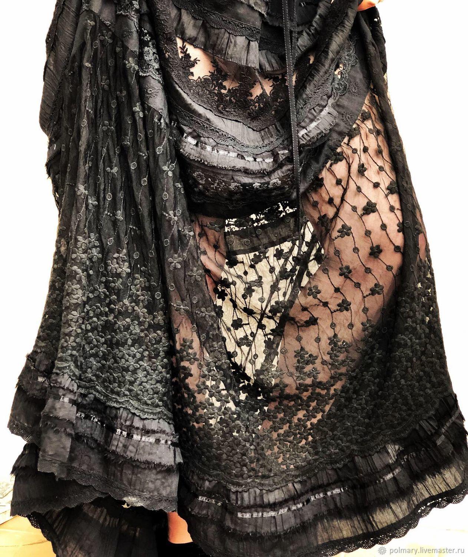 Black long dress made of cotton boho Tris black, Dresses, Tashkent,  Фото №1
