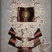 Аксессуары ручной работы. Ярмарка Мастеров - ручная работа Брошь-галстук. Handmade.