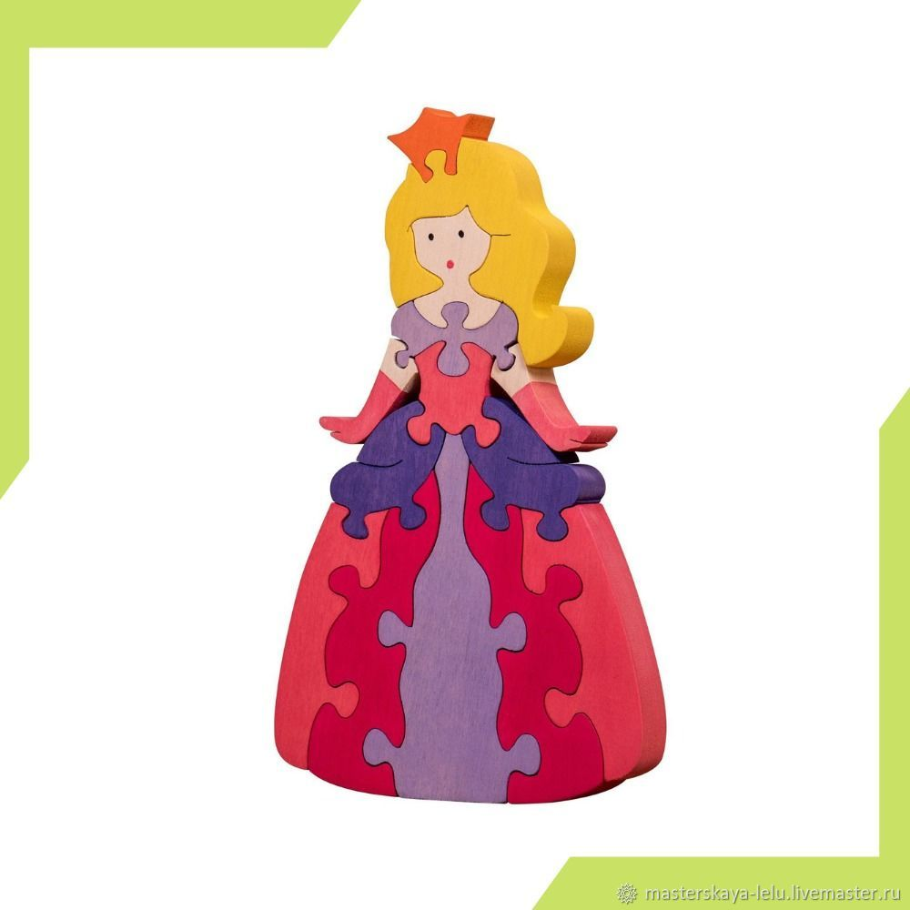 Пазл деревянный Принцесса на балу, Развивающие игрушки, Петрозаводск, Фото №1