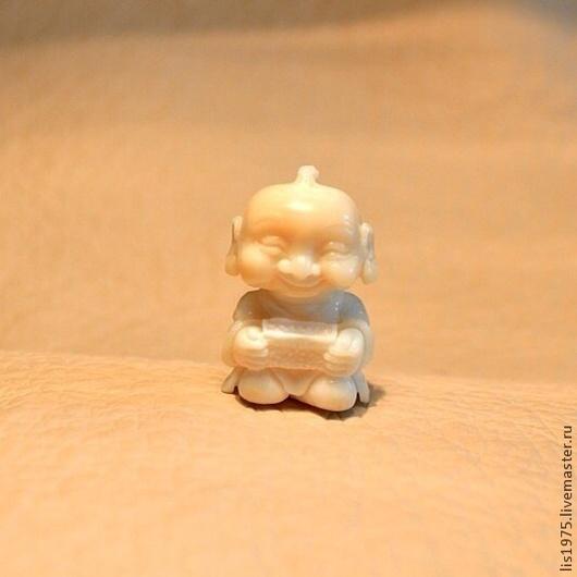 """Обереги, талисманы, амулеты ручной работы. Ярмарка Мастеров - ручная работа. Купить """"Фукусукэ"""". Handmade. Бежевый, Амулеты, резьба по кости"""