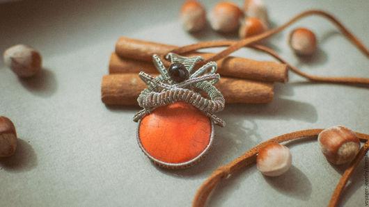 """Кулоны, подвески ручной работы. Ярмарка Мастеров - ручная работа. Купить Кулон медный """"The sun"""". Handmade. Рыжий, оранжевый"""