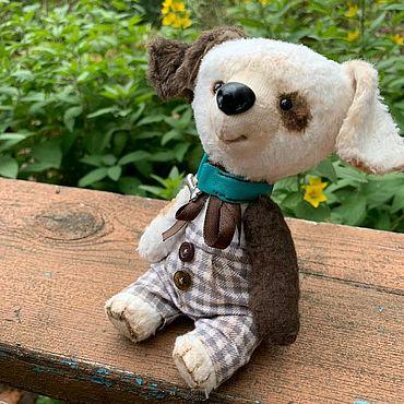 Куклы и игрушки ручной работы. Ярмарка Мастеров - ручная работа Тедди щенок Тяпа. Handmade.