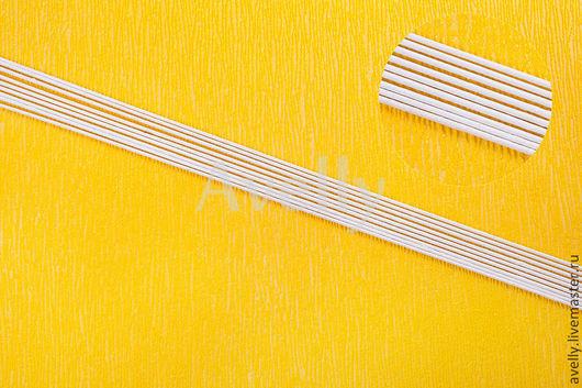 Материалы для флористики ручной работы. Ярмарка Мастеров - ручная работа. Купить Проволока для цветов №14 в бумажной обмотке, белая, 5 шт, А-37. Handmade.