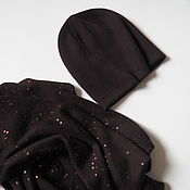 Аксессуары handmade. Livemaster - original item Double cashmere hat beanie knitted hat. Handmade.