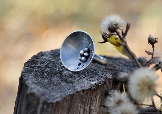 """Кольца ручной работы. Ярмарка Мастеров - ручная работа. Купить Кольцо """"Туманность Андромеды"""" (серебро 925). Handmade. Серебряный, туманность"""