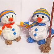 """Мягкие игрушки ручной работы. Ярмарка Мастеров - ручная работа Игрушка """"Снеговик"""". Handmade."""