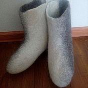Обувь ручной работы. Ярмарка Мастеров - ручная работа Домашние валенки двухцветные. Handmade.