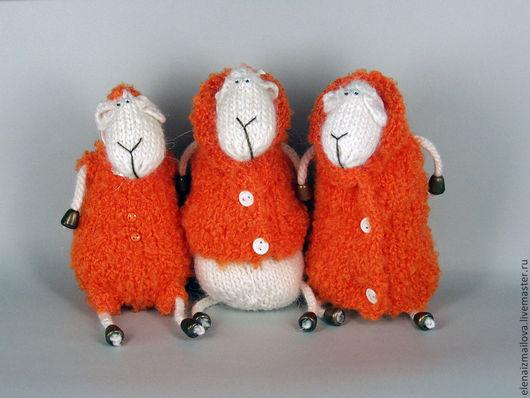 Куклы и игрушки ручной работы. Ярмарка Мастеров - ручная работа. Купить Новогодняя овечка!. Handmade. Оранжевый, теплый подарок, букле