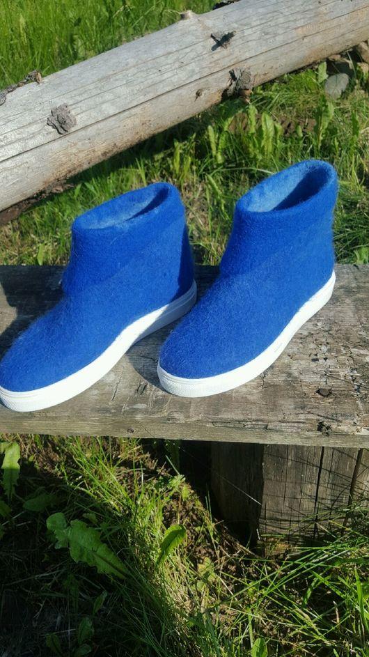 Обувь ручной работы. Ярмарка Мастеров - ручная работа. Купить Валяные ботиночки. Handmade. Валяная обувь, обувь ручной работы