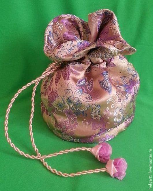 Женские сумки ручной работы. Ярмарка Мастеров - ручная работа. Купить маленькая сумка - мешок в восточном стиле. Handmade. цветы