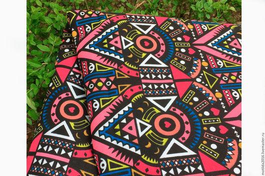 """Шитье ручной работы. Ярмарка Мастеров - ручная работа. Купить Канвас """"Африканские мотивы"""". Handmade. Комбинированный, плотный хлопок"""