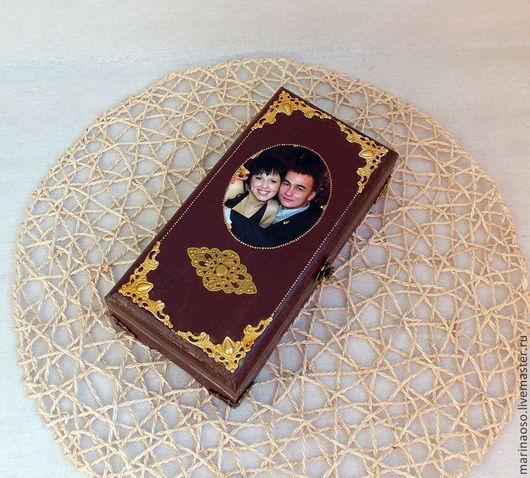 Подарки для влюбленных ручной работы. Ярмарка Мастеров - ручная работа. Купить Шкатулка на деревянную свадьбу. Handmade. Коричневый, шкатулка для мелочей
