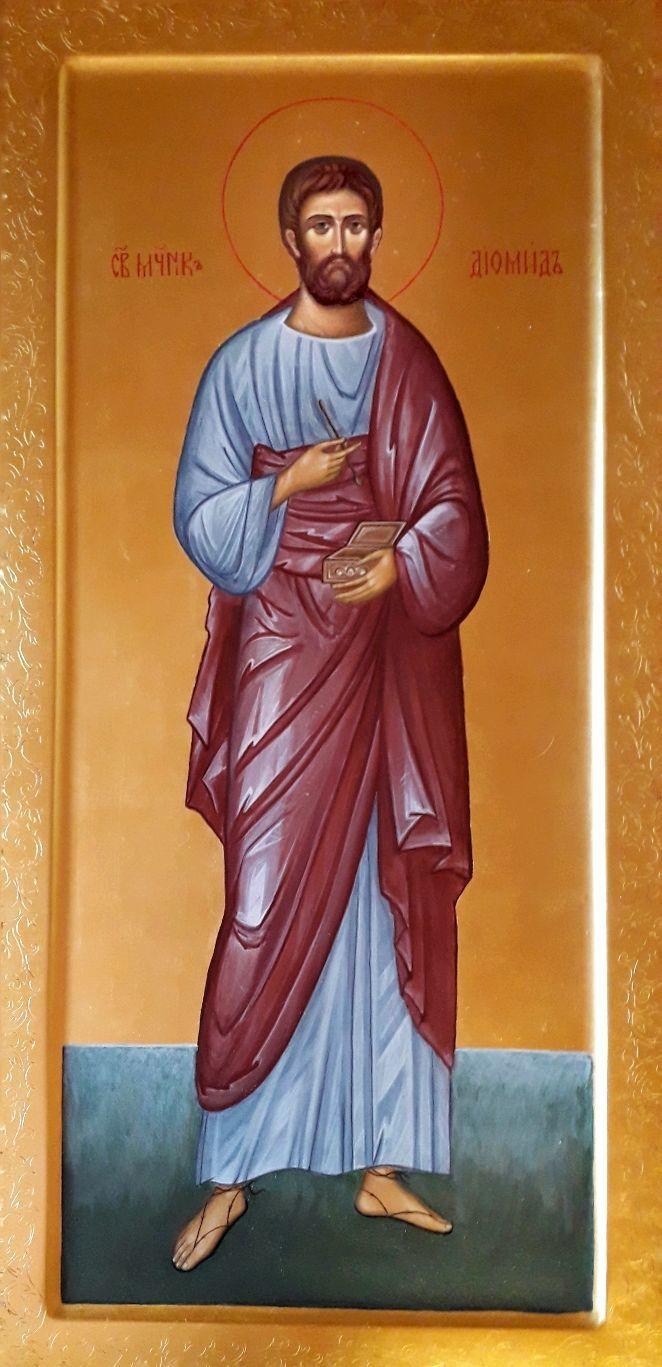 Мерная икона. Святой Диомид Тарсянин, врач, Иконы, Москва,  Фото №1