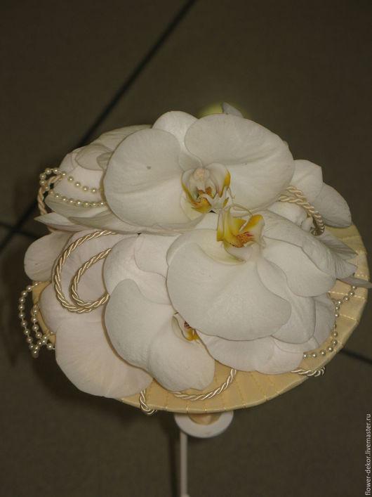 """Букеты ручной работы. Ярмарка Мастеров - ручная работа. Купить Букет невесты из живых цветов """" Белоснежный"""". Handmade. Белый"""