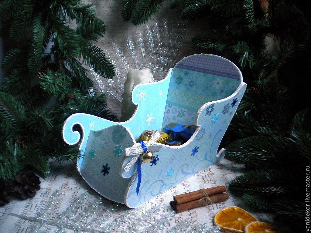 Декупаж подарки новогодние фото