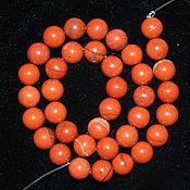 Материалы для творчества handmade. Livemaster - original item Thread of red Jasper beads, 10 mm (length 389-40 cm), natural stone. Handmade.