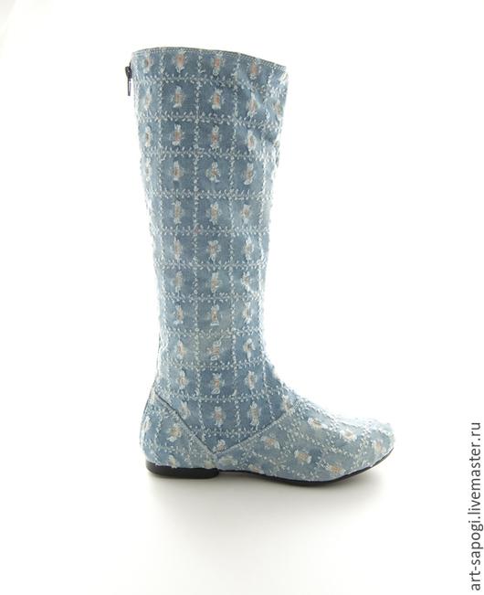 Обувь ручной работы. Ярмарка Мастеров - ручная работа. Купить Летние сапоги 5-157 (ВЧ). Handmade. Летние сапоги