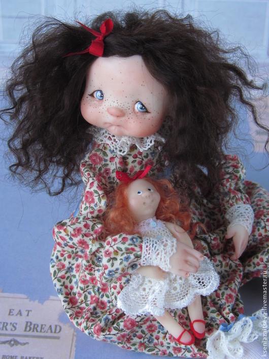 """Коллекционные куклы ручной работы. Ярмарка Мастеров - ручная работа. Купить """"Джуди"""". Handmade. Разноцветный, кудряшка, голубые глаза, кружево"""