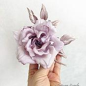 Украшения handmade. Livemaster - original item Brooch made of silk. Rose brooch