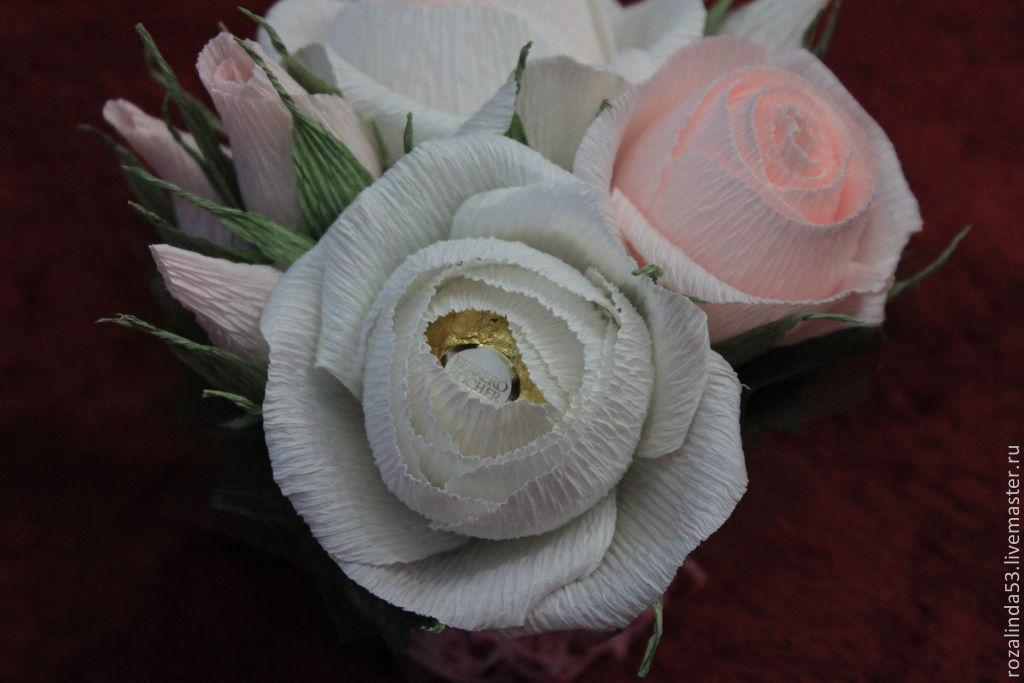 Букет английских роз из конфет