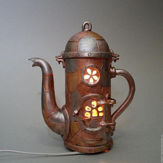 """Освещение ручной работы. Ярмарка Мастеров - ручная работа. Купить Светильник """"Мышиное чаепитие"""". Handmade. Чайник, Керамика, глазурь"""