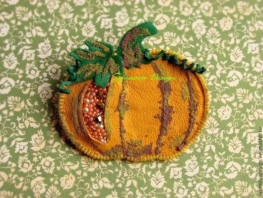 Броши ручной работы. Ярмарка Мастеров - ручная работа. Купить Pick your Pumpkin!. Handmade. Оранжевый, урожай