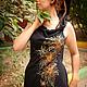 Этническая одежда ручной работы. Эльфийское платье с ручной росписью. Elven Forest. Интернет-магазин Ярмарка Мастеров. Цветочный, этника