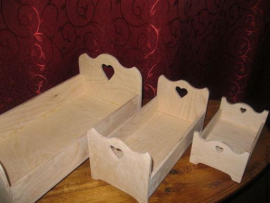 Кукольный дом ручной работы. Ярмарка Мастеров - ручная работа. Купить Набор кроваток для кукол. Handmade. Бежевый, кроватка для куклы