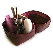 Сумки и аксессуары handmade. Livemaster - original item Cosmetic bag travel Maxi leather. Handmade.