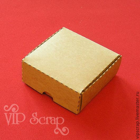 Упаковка ручной работы. Ярмарка Мастеров - ручная работа. Купить Коробка самосборная 75х75х30 мм Крафт-картон. Handmade. Коричневый