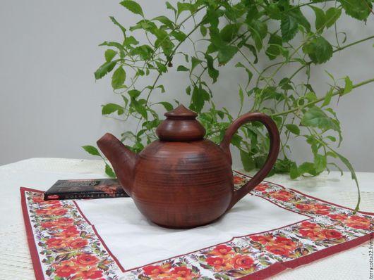 Чайники, кофейники ручной работы. Ярмарка Мастеров - ручная работа. Купить Чайник. Handmade. Коричневый, красная глина, гончарные изделия