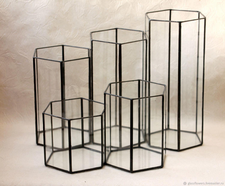 Набор из пяти ваз. Геометрические вазы Loft