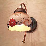 Для дома и интерьера ручной работы. Ярмарка Мастеров - ручная работа Керамический светильник на стену к набору для ванной комнаты. Handmade.