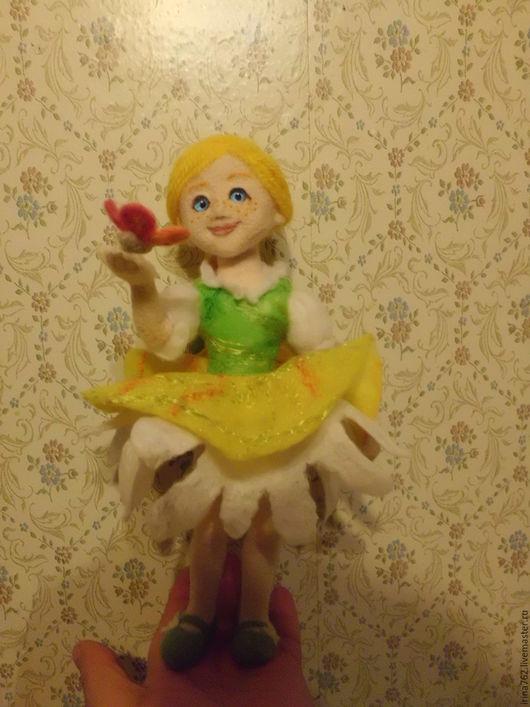 Человечки ручной работы. Ярмарка Мастеров - ручная работа. Купить Девочка-Ромашка. Handmade. Кукла ручной работы, войлочная игрушка