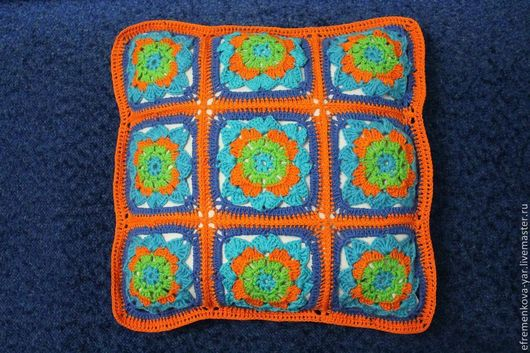 наволочка на подушку вязанная, застежка молния для удобства в использовании, можно изготовить на заказ в любом цвете, срок изготовления около 10 дней