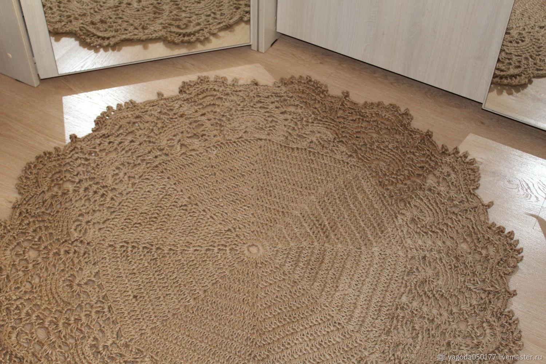 Коврик из джута с ажурной каймой, Ковры, Калуга,  Фото №1